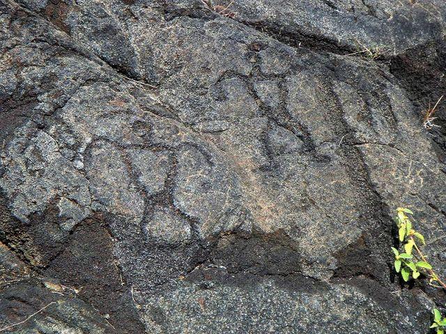 Petroglify z Parku Narodowego Hawajskich Wulkanów. Fot. Staecker. Creative Commons