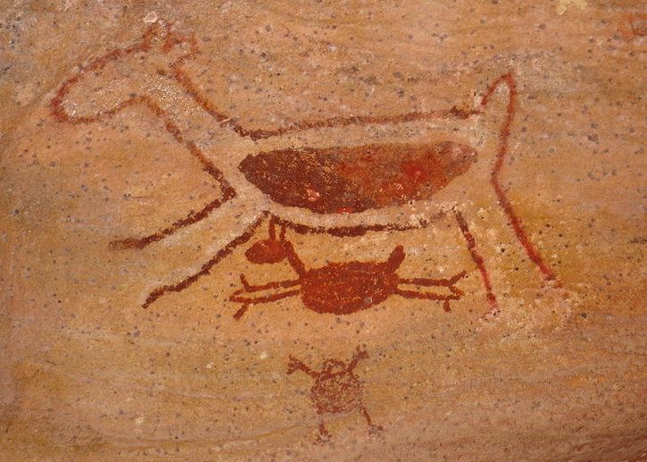Malowidła naskalne z Parku Narodowego Serra da Capivara. Fot. Vitor 1234. Creative Commons