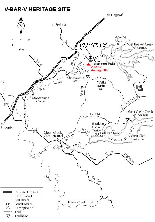 Mapa z dojazdem © US Forest Service