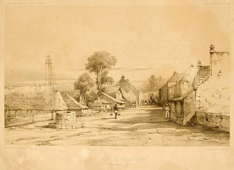 Makasar. Rycina z 1846 r. Creative Commons (domena publiczna)