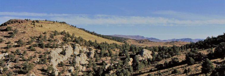 Ryty naskalne z Hickison Summit w Nevadzie