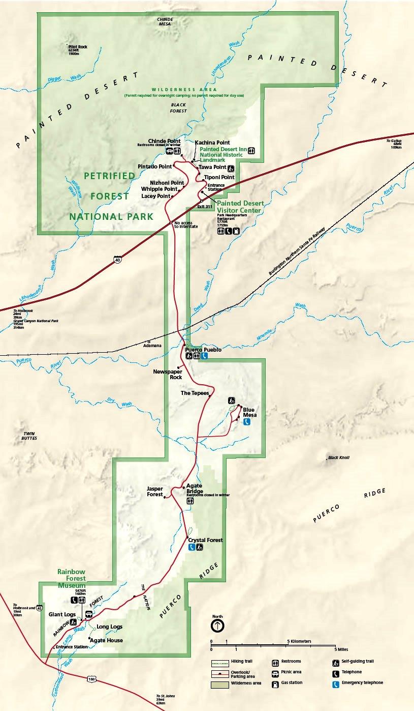 Mapa z dojazdem © National Park Service