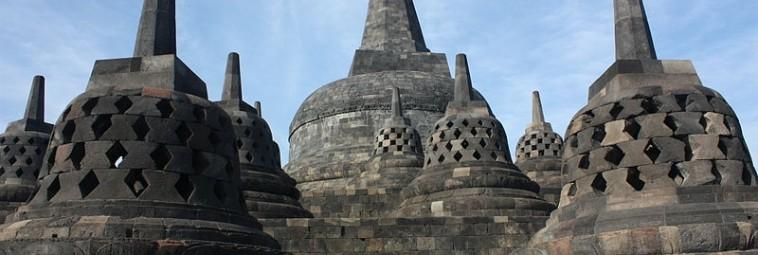 Borobudur po wybuchu wulkanu