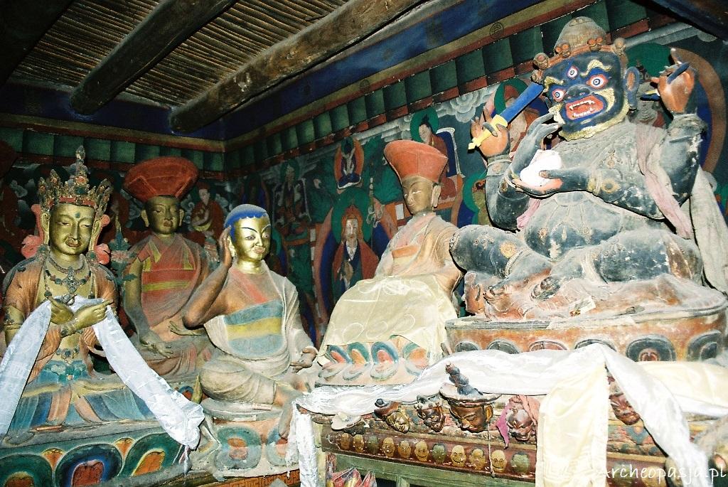 Posągi z gompy Thikse, Ladakh