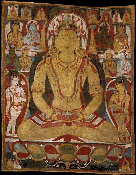 Bodhisattwa Amitajus (XI w.). Creative Commons (domena publiczna)