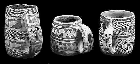 Gliniane kubki kultury Pueblo (Anasazi)