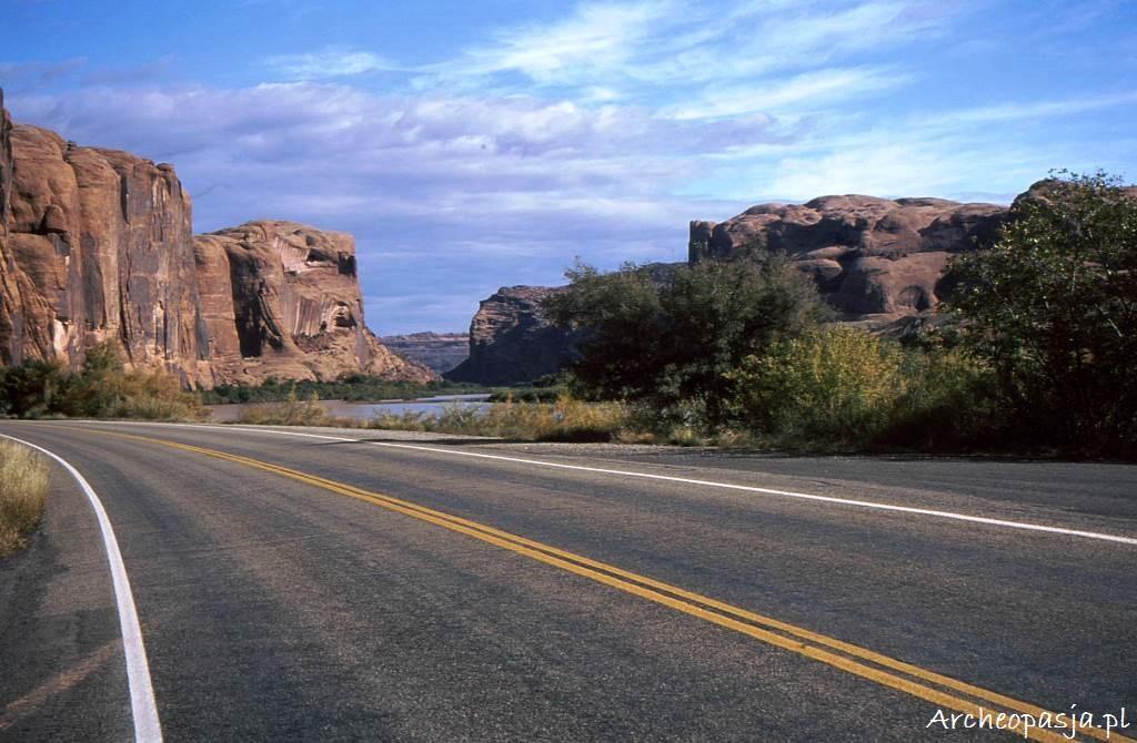Potash Road wzdłuż rzeki Kolorado