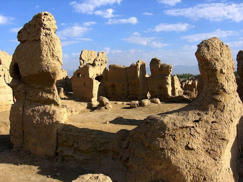 Ruiny Jiaohe. Fot. Colegota. Creative Commons