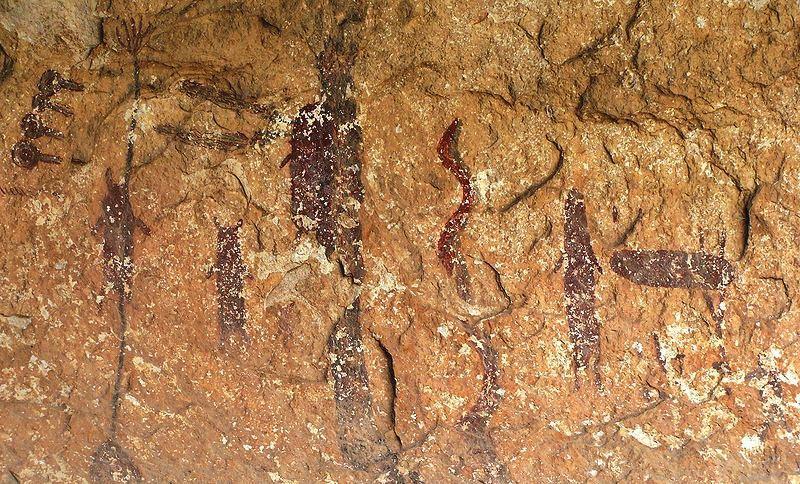 Malowidła z Kanionu Seminole w Teksasie. Fot. Zereshk. Creative Commons