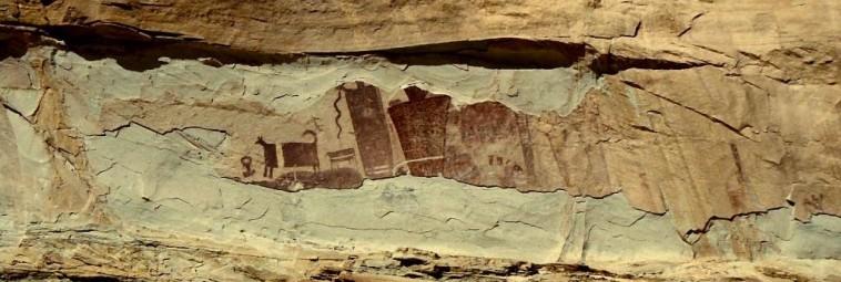 Dawni Indianie portretowali na skałach szamanów i ich duchowe podróże
