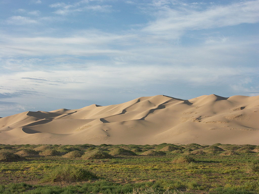 Wydmy na pustyni Gobi. Fot. Zoharby. Creative Commons